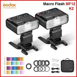 Godox MF12 K2 2.4GHz Wireless Macro Flash Light Speedlite 2 light kit For Camera