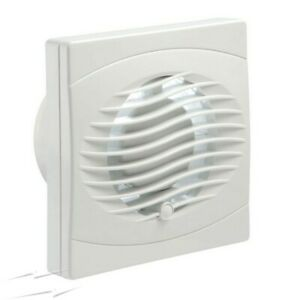 "WILTS Plus 4"" Extractor Fan 100mm WPEF4N White Slim Bathroom Toilets Standard"