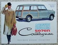 Seven Mini Car Sales Brochures