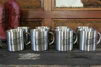 Set of 8 Western Stainless Steel Mugs, Cowboy Mugs, Horse Coffee Cups for Ranch