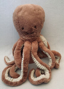 """JELLYCAT Odell Octopus Large Plush 22"""" Apricot Peach Stuffed Toy Retired HTF LN"""
