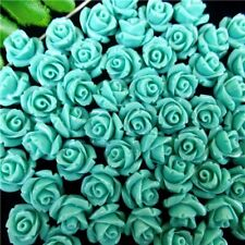 10Pcs Wholesale Lake Blue Tridacna Carved Flower Pendant Bead 10*8mm HH5376