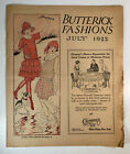VTG 1922 ANTIQUE SEWING PATTERNS ADVERTISING FASHION BUTTERICK NEWSPAPER FLAPPER
