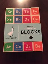 Uncle Goose Elemental Periodic Table Wooden Blocks Brand New