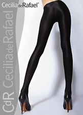 Cecilia de Rafael Uppsala Satin GLOSSY OPAQUE Pantyhose Tights XL Marron (Gold)