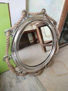 Porthole Jute Rope Porthole Mirror Antique Nautical Home Wall Decor Face Mirror