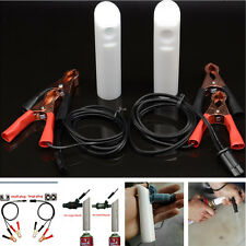 Car Vehicle Tool Fuel Injector Flush Nozzle Cleaner Battery Clip Adapter Kit Set