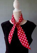 Red and white polka dot scarf retro Rosy 40's/50's headband forties neckerchief