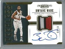Dwyane Wade 17/18 Panini Dominion Autograph Game Used Jersey Patch #07/10