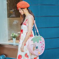 Handbag Lolita Strawberry Backpack Itabag Transparent Casual Tote Shoulder Bag