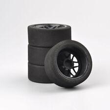 4Pcs Foam Tires Wheel Rims Set For RC HSP HPI 1:10 On-Road Racing Car 12mm Hex