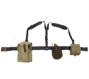 Soviet Russian Army Military Uniform Belt with Flask and Pouches