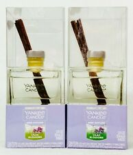2 Yankee Candle Reed Diffuser Kit Lilac Blossoms Scent Oil Glass Sticks 1.2 oz