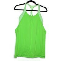 Lululemon Womens Sz 10 Green Frond Practice Freely Tank Top Draped Shelf Bra