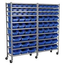Sealey Mobile Bin Garage/Workshop Storage System With Castors - 72 Bins - TPS72