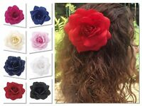 LARGE ROSE FLOWER HAIR CLIP WOMENS FLOWER HAIRBAND WEDDING BRIDESMAID ROCKABILLY