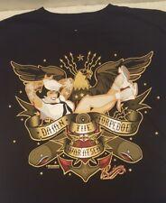 Bawidamann Pin Up Girl Tattoos Navy Sailor USN Torpedoes Eagle T Shirt Sz. L