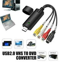 USB 2.0 Audio TV Video VHS to PC DVD VCR Converter new Card Capture Adapter S3Y0