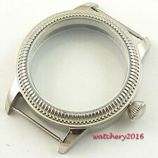 44mm vintage Watch CASE stainless steel fit 6498 6497 eat Movement parnis Watch
