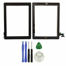 New Black Glass Touch Screen Digitizer + Home Button Assembly for iPad 2 + Tools