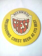Vintage MELBOURNS / CREST BEER  -   Cat No'03 -  Beermat / Coaster