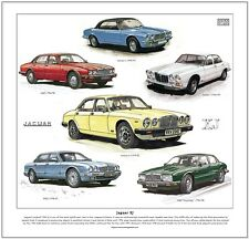 JAGUAR XJ - FINE ART PRINT - Series 1 2 3 X300 XJ40 Sovereign X300 Saloon Cars