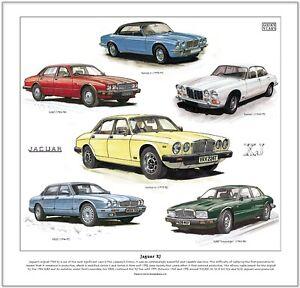 JAGUAR XJ - FINE ART PRINT - Series 1 2 3 X300 XJ40 Sovereign X300 Saloon Cars