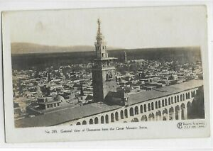 Syria Rare Old Postcard General View of Damascus British Photograph