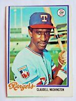 Claudell Washington #67 Topps 1978 Baseball Card (Texas Rangers) VG