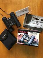 Tasco 10X Compact Binoculars w/Case and Cord