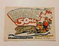 WUSTROW REUTERGELD NOTGELD 50 PFENNIG 1922 NOTGELDSCHEIN (10821)