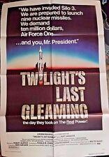 "Twilight's Last Gleaming Burt Lancaster Movie Poster Folded 40""x 27"""