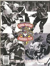 1993-1994 FLORIDA PANTHERS YEARBOOK-INAUGURAL YEAR
