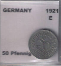 German 1921 E 50 Pfennig Coin VF