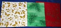 VTG 1950'S GLITTER GIFT WRAP WRAPPING XMAS PACKAGE 3 UNUSED SHEETS PAPER, CRAFTS