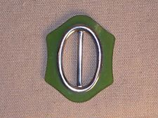 Vintage Deco Womans Buckle Plastic or Bakelite Green