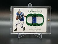Edgerrin James 2017 Panini Flawless Emerald Colts Jumbo 2 Color Patch #d 2/3 SSP