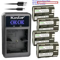 Kastar Battery LCD Charger for Canon BP-511 BP-511A & Optura 200MC Optura Pi