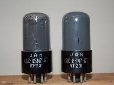RCA VT-231 6SN7GT vacuum tubes matched and guaranteed