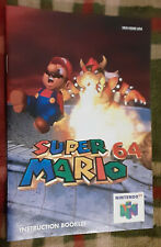 Official vintage Super Mario 64 instruction manual booklet Nintendo N64