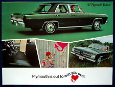 Prospekt brochure 1967 Plymouth Valiant (USA)   NOS