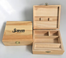 Rolling Supreme Large Wooden Roll Box Tobacco Weed Rizla Smoking Storage Gift