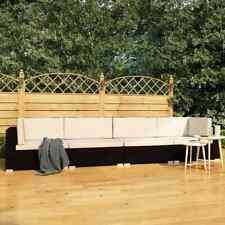 vidaXL Set de Sofás de Jardín 4 Piezas y Cojines Ratán Sintético Negro Hogar