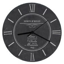 Personalised Moments Kitchen Slate Clock New Home Anniversary Design Gift Ideas