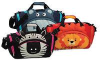 Fabrizio Kinder Sporttasche Reisetasche Löwe Nilpferd Zebra Zoo Kindergepäck
