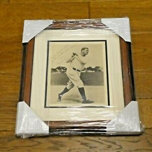 Very Rare Babe Ruth Signed Framed 8x10 Photo with Full JSA Letter