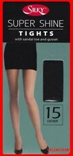 Nylon Wet look, Shiny footed Tights for Women