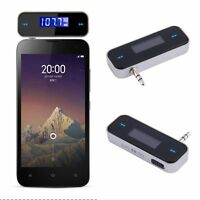 Wireless 3.5mm Jack Stereo Audio Radio Car FM Transmitter For Phone MP3 Tablet