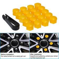 20Pcs Yellow 17mm Car Wheel Nut Cover Bolt Cap For VW Golf MK4 Bora Passat V7E5