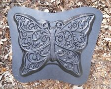 """Gostatue  large fancy butterfly stepping stone concrete plaster mold 17"""" x 13"""""""
